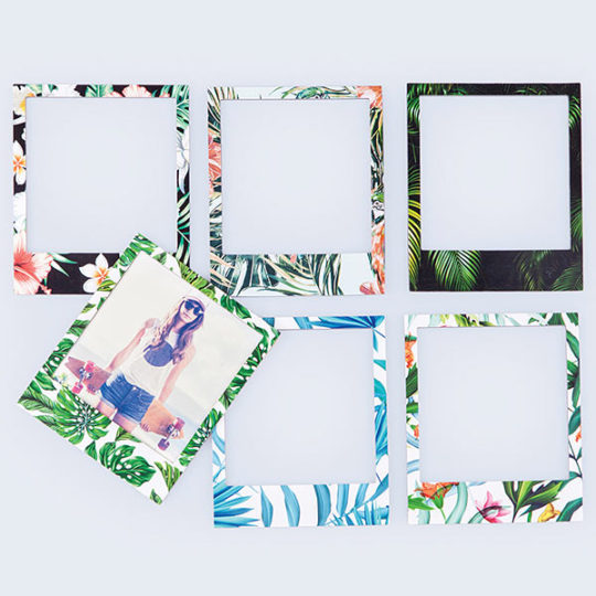 Magnets Polaroid Motifs Tropicaux