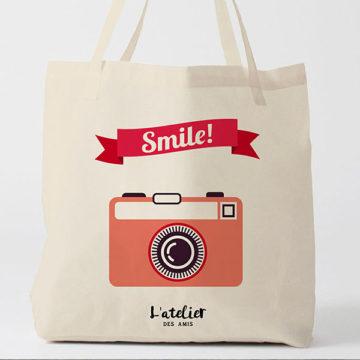 Tote Bag avec un Appareil Photo